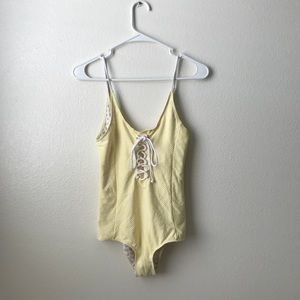 Brand new Revolve Tallow retro lace up swimsuit